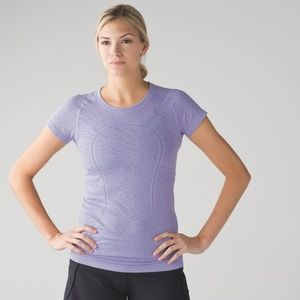 Lululemon Swiftly Short Sleeve Heathered Lilac GUC